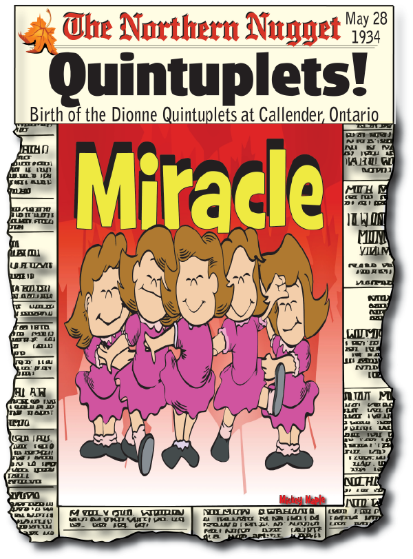 Canadian History for Kids: Dionne Quintuplets